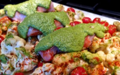 Pesto bloemkool met kipfilet
