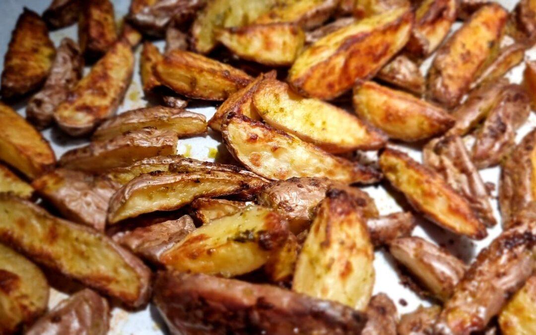 Pesto aardappeltjes