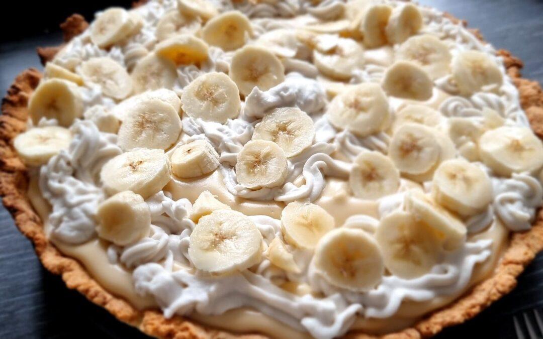 Romige bananentaart